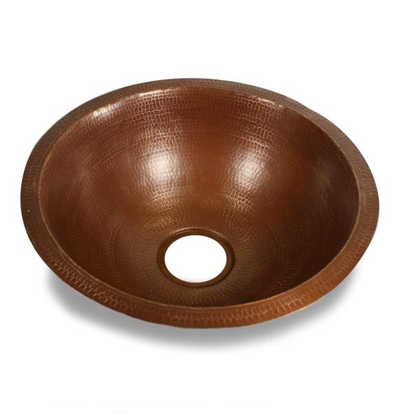 Hammered Copper 18-inch Round Bar Sink