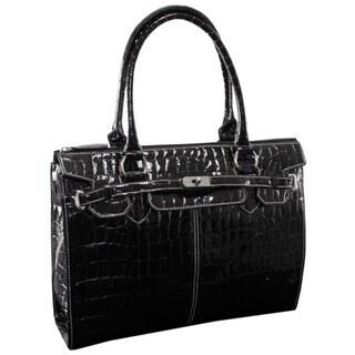 McKlein USA Francesca Faux Croco Leather 16-inch Laptop Tote