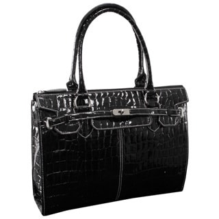 McKleinUSA FRANCESCA 11105 Faux Patent Croco Leather Ladies' Business Tote
