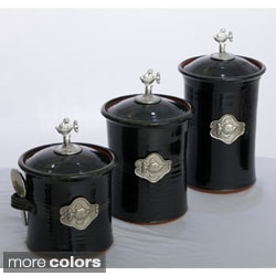 Artisans Domestic 3-piece Gourmet Canister Set with Fish Accent