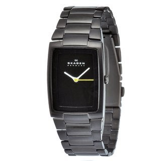 Skagen Men's Black Carbon-coated Stainless Steel Watch