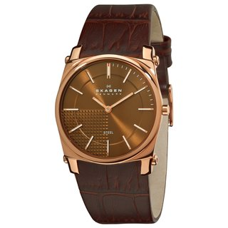 Skagen Men's Rose-goldtone Stainless Steel Watch