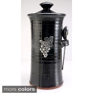 Artisans Domestic Coffee Canister with Vineyard Accents