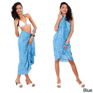 Abstract Floral Leaf Sarong (Indonesia)