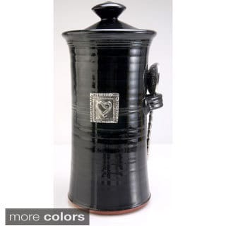 Artisans Domestic Coffee Canister with Heart Accent