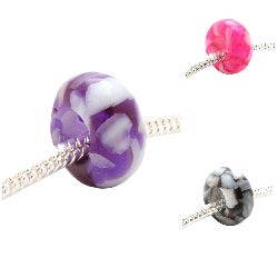 Mosaic Marble Charm Beads (Set of 2)