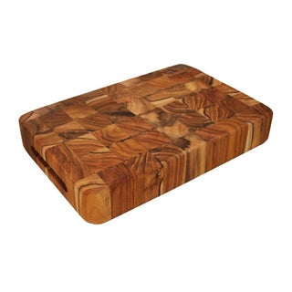 Proteak 16-inch Square End Grain Cutting Board Chopping Block