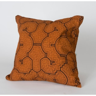 Shipibo Hand-Painted Decorative Throw Pillow (Peru)