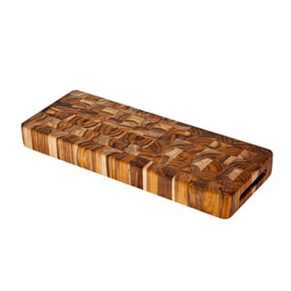 Proteak 18-inch Rectangle End Grain Serving Cheese Board