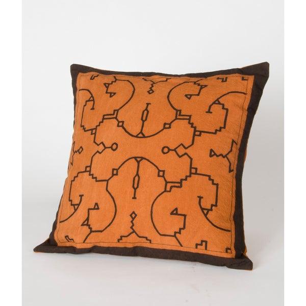 Shipibo Hand-Painted Decorative Pillow (Peru)