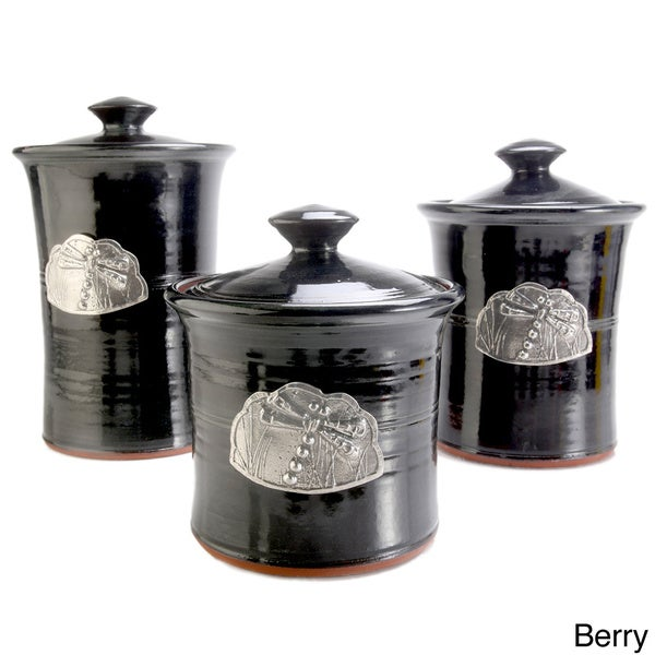 Artisans Domestic 3-piece Gourmet Canister Set with Dragonfly Accent