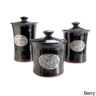 Artisans Domestic 3-piece Gourmet Canister Set with Bird Accent