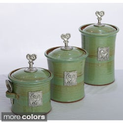 Artisans Domestic 3-piece Gourmet Canister Set with Heart Accents