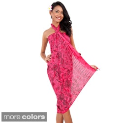 Abstract Rose Flower Sarong (Indonesia)