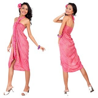 Pink/Gold Abstract Sarong (Indonesia)