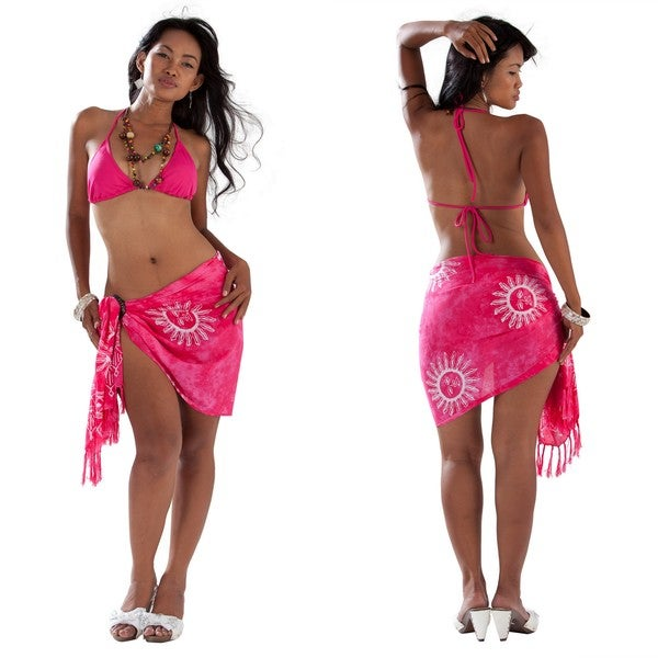 Sun Pink Half Sarong/Mini Sarong (Indonesia)