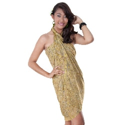 Beige Abstract Sarong (Indonesia)