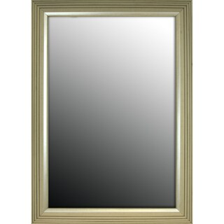 30x42 Stepped Silver Petite Mirror