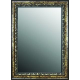 31x43 Euro Floral Coppered Silver Mirror