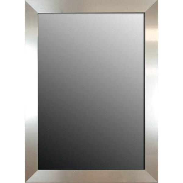 Brightly Polished Silver 66x30-inch Mirror