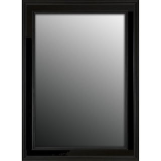 Rich Satin Black Petite 37x27-inch Mirror