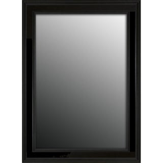 Rich Satin Black Petite 42x30-inch Mirror