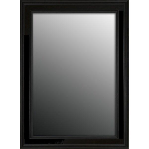 Rich Satin Black Petite 42x30-inch Mirror