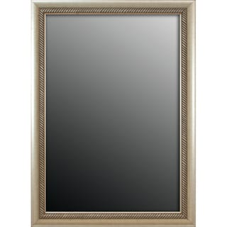 Peruvian Aged Silvertone Trim 26x36-inch Mirror