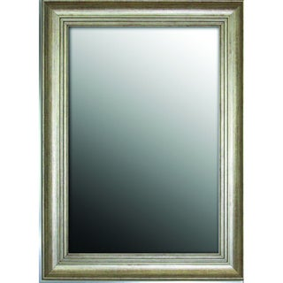 Louis XIV French Silvertone 19x37-inch Mirror