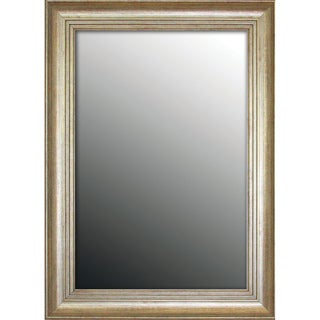 Louis XIV French Silvertone 28x38-inch Mirror