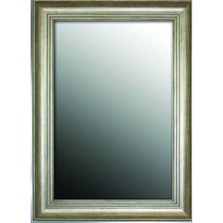 Louis XIV French Silvertone 37x47-inch Mirror