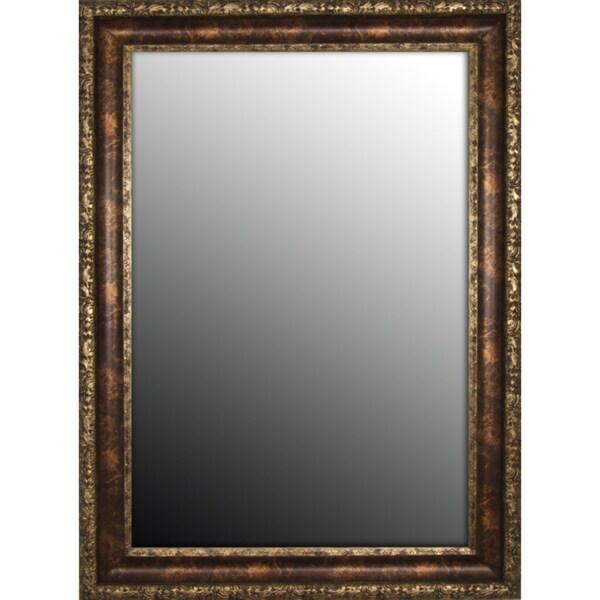 Austrian Decor Coppertone Finish 19x37-inch Mirror