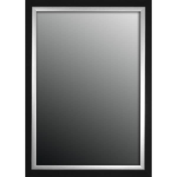 Natural Ebony Black With Silver Trim 26x36-inch Mirror