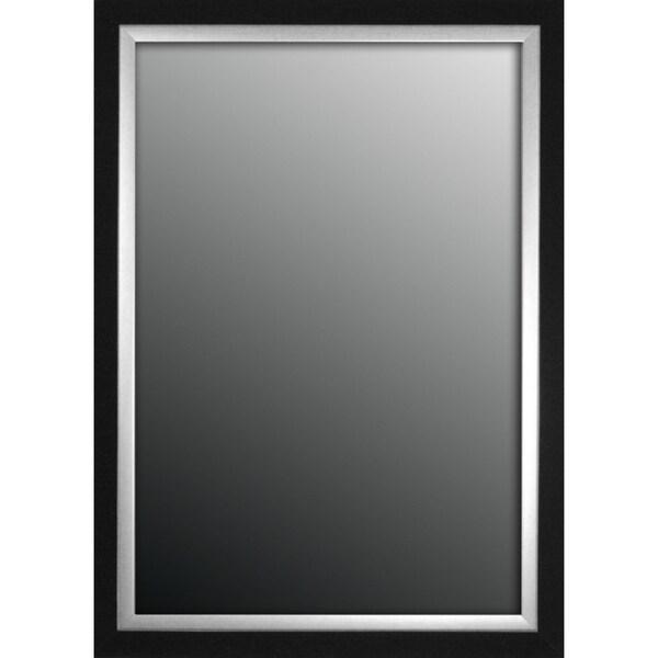 Natural Ebony Black With Silver Trim35x45-inch Mirror