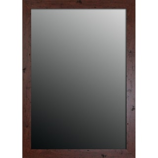 New England Walnut Finish 34x44-inch Mirror