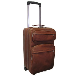 Amerileather Brown Leather 22-inch Expandable Carry-on Pullman (8001-2)