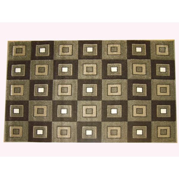 Modern Deco Fume Block Style Rug (7'9 x 10'5)