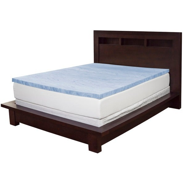 Select Luxury Gel Memory Foam 2-inch Medium Firm Mattress Topper