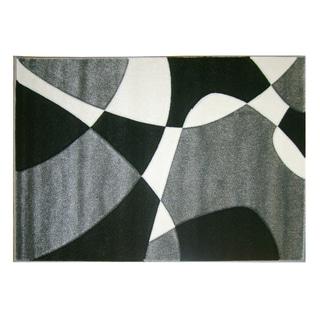 Modern Deco Grey Universe Rug (7'9 x 10'5)