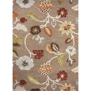 Hand-tufted Transitional Beige Wool/ Silk Rug (9'6 x 13'6)