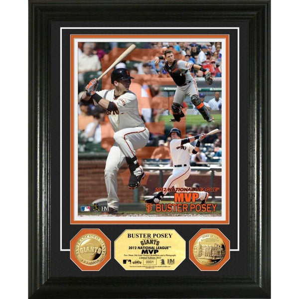 Buster Posey 2012 N.L. MVP Gold Coin Photo Mint