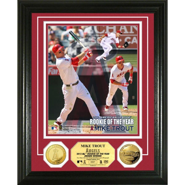 Mike Trout '12 A.L. 'ROY' Gold Coin Photomint