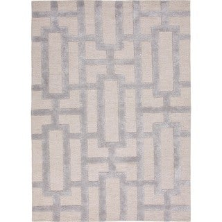 Hand-tufted Modern Geometric Wool/ Silk Rug (8' x 11')