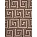 Hand-Tufted Java Modern Geometric Wool/Silk Rug (2' x 3')