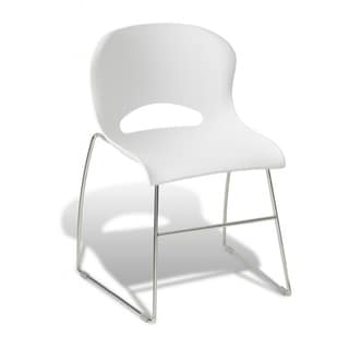White Polyurethane Dining Chair