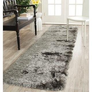 Safavieh Silken Silver Shag Rug (2'3 x 6')