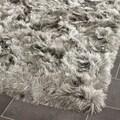 Safavieh Silken Silver Shag Rug (5' Square)