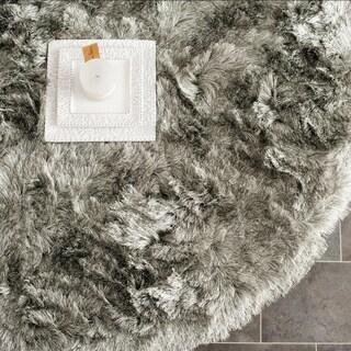 Safavieh Silken Silver Shag Rug (7' Round)