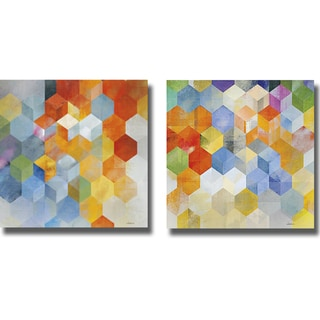 Noah 'Cubitz I and II' 2-piece Canvas Art Set