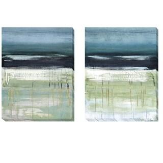 Heather McAlpine 'Sea and Sky I and II' 2-piece Canvas Art Set